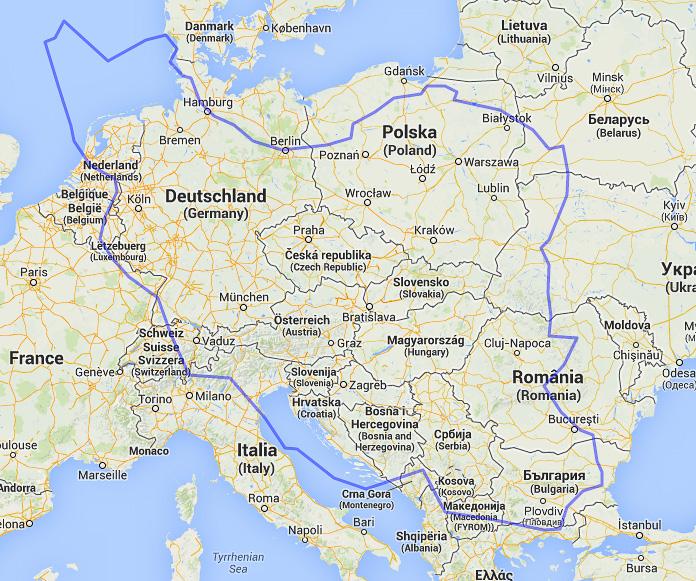 iran europe comparaison taille size