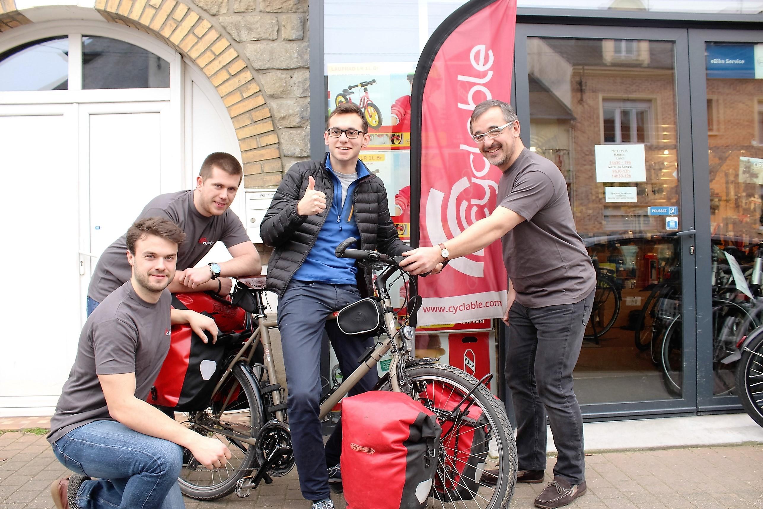 Cyclable Rennes partenaire de Bangkog Paris à vélo